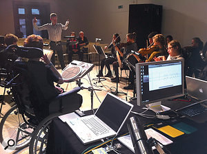 The Technophonia ensemble brings together skilled users of adaptive and assistive music technology with conventional musicians.