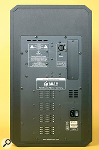 The rear panel is kept simple, hosting only the IEC power inlet, the analogue audio input, and a blanking panel for the optional digital input.