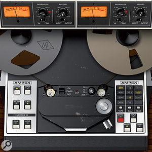 The output of the plug-in can be monitoredthrough the repro head, the sync head or just the input electronics.