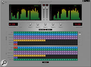 The Orion 32 is far more than just a USB interface. For example, it also acts as a routing matrix for the very generous analogue and digital I/O, as you can see in this screen from the control software.