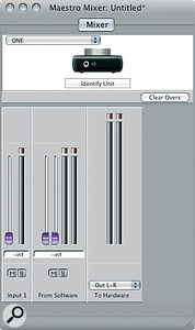 The One's Maestro Mixer page is asimple affair, as you'd expect with aone‑in, two‑out interface.