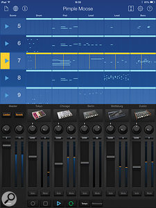 A Gadget song. The mixer can be folded away so you can access more scenes at once.