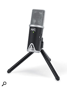 The Apogee MiC with its supplied tripod.