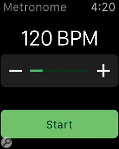 It doesn't get simpler than this: WatchHapticMetronome beats time using the Taptic Engine.