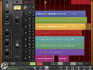 Studio is Amplitube 3's built-in mini-DAW, but you'll need to make an in-app purchase if you want the full eight tracks.