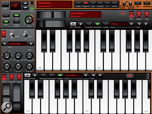 Magellan lets you play two patches on two keyboards at once, each with their own arpeggiator.