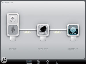 Guitar recording into Multitrack DAW with effects from JamUp Pro.