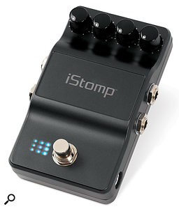 The iStomp has broadly the same footprint as a normal guitar pedal, although the body is a little shallower.
