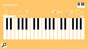 As good as it gets: Revel Software's Piano Time is one of the few music-related apps currently available for Windows RT.