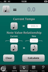 Pocket Audio Tools' Tempo Finder Utility.