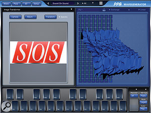 As well as allowing you to draw your own waveforms, PPG WaveGenerator can also transform pictures or photos into wavetables.