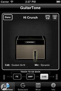 Sonoma Wire Works' GuitarTone app in action.