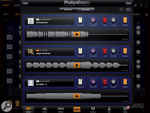 Polyshare: Korg's SoundCloud community for iPolysix users.