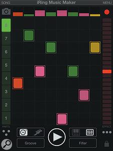 The iRing Music Maker app.