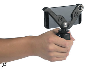 The Rode Grip in its hand-held configuration.