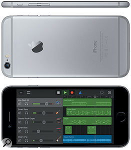 The iPhone 6 will display five Garageband tracks at once, compared to the iPhone 5's four — and the iPhone 6 Plus can manage a whopping six!