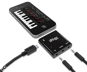The iRig MIDI offers MIDI In, Out and Thru, as well as charging via USB while the interface is in use.