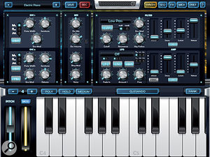 Arctic Keys is one of the more traditional synths available for iPad, so you'll need to use all the subtractive tricks you have up your sleeve to make fresh sounds.