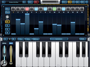 As well as atraditional analogue-style synth, ArcticKeys has apattern sequencer built in: ideal for rhythmic automation of various parameters.