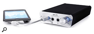 The HPP1 is supplied with a short dock cable for connecting your iOS device to the USB port on the front.
