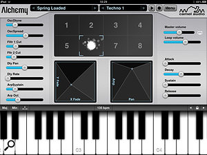 Alchemy Synth Mobile uses the iPad as a very efficientcontrol surface, and can even be used as acontroller for the synth's desktop version.