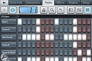 FL Studio Mobile's step sequencer (left) is quick and easy to use, while the main arrange page (above) offers clever modes to allow plenty of control in a small space.