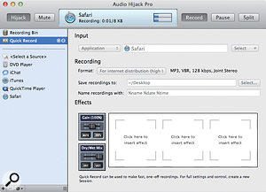 Audio Hijack Pro lets you record audio from a