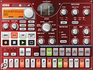 Korg have already released the iElectribe for the iPad platform, which successfully recreates the look and feel of the Electribe‑R hardware drum synth.