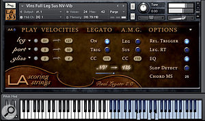 Legatos, glissandos and portamentos are now incorporated in easy‑to‑use single patches. Setting the portamento velocity range to 0‑127 bumps the other two articulations out of the race, enabling you to play Bollywood‑style pitch slides over the full dynamic range.
