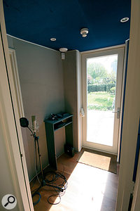 The vocal booth in Van Buuren's new studio: increasingly, he is working with vocalists to develop new material.