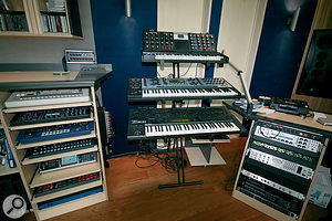 Although Armin Van Buuren is at pains to point out that none of them is actually necessary to his production process, his studio still boasts a wealth of hardware synths.