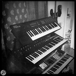 Benny Blanco's selection of cheap home keyboards has served him well — in particular the Yamaha model that helped to create Katy Perry's 'Teenage Dream' and 'California Gurls'.