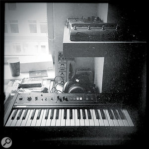 It's not all toy keyboards: Blanco's collection also features vintage analogue designs like the Korg Polysix and Roland Saturn 09.