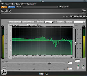 Repli-Q allows you to impose the frequency profile of one track on another.
