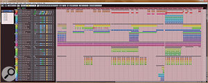 It's very common to double-track, and even quadruple-track parts, which means avocal arrangment with harmony parts — such as the one pictured here — requires thorough planning before you start recording!