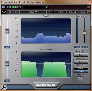 Breath sounds contribute to the rhythmic feel of parts, and will usually require editing to bring them into time, and some degree of attenuation. For the latter task, you could choose to use automation or adedicated plug-in such as Waves DeBreath.