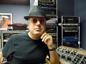 The album was co-written and produced by Larry Klein, seen here in his Market Street studio.