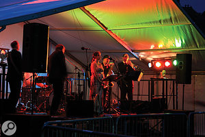 The Behringer X32 and its accompanying digital snake system, the S16, were put to use at an outdoor gig, where the requirement was to mix atotal of 13 channels, with four independent monitor mixes going back to the stage wedges.