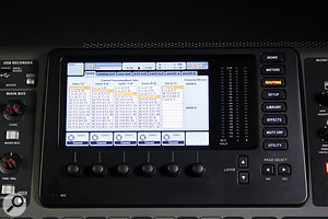 By default, the X32 routes all its local analogue inputs to the first 32 processing channels, but this had to be reconfigured for use with the S16 snake.