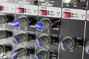 The mono channels each benefit from simple but usable one-knob compressors.