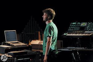 Matt Robertson on stage in Tokyo.