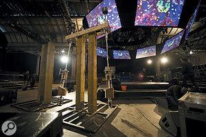 Björk's 30-foot pendulum harps are controlled via MIDI by servo motors.
