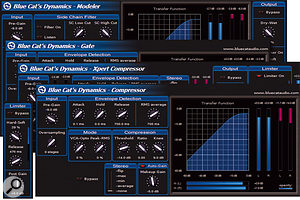 The comprehensive Dynamics plug-in comes with a selection of skins allowing it to function in specific roles as compressor, limiter, gate and so on.