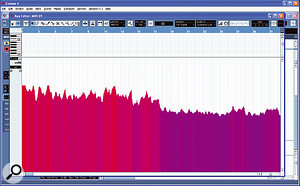 A variety of dynamics-related information can be sent as controller data to other plug-ins or recorded to MIDI tracks (above).
