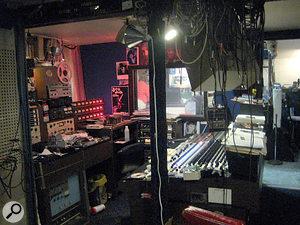 Truly agarage studio: the Cinderella Sound control room.