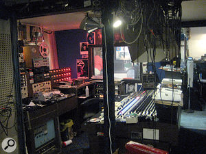 Truly a garage studio: the Cinderella Sound control room.