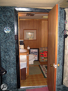 The 'vocal booth' where Linda Ronstadt, among others, sang.