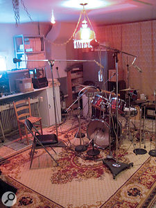 Studio C is the more 'live' of the two rooms at Cinderella Sound.