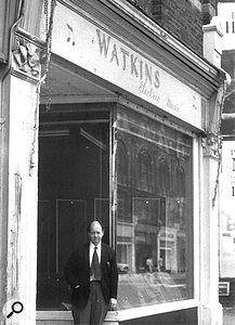 Charlie Watkins outside his first shop in Balham.