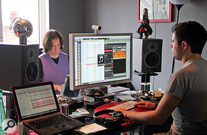 Once they had Morissette's contributions recorded, Sigsworth (left) and Elms decamped to the latter's London studio to finish — as they thought — the album.